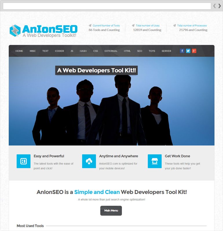 AnIonSEO Home Page