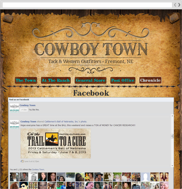 Cowboy Town Facebook Page