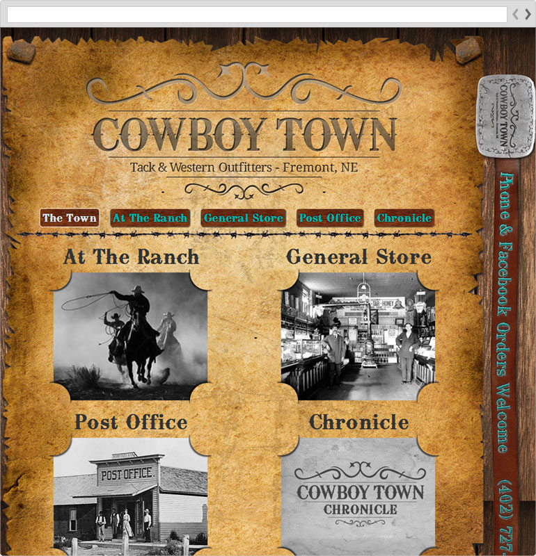 Cowboy Town Index Page